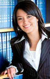 A female paralegal professional